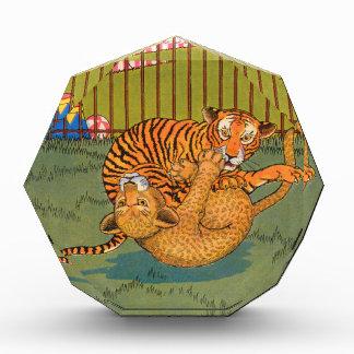 tiger and leopard wrestling