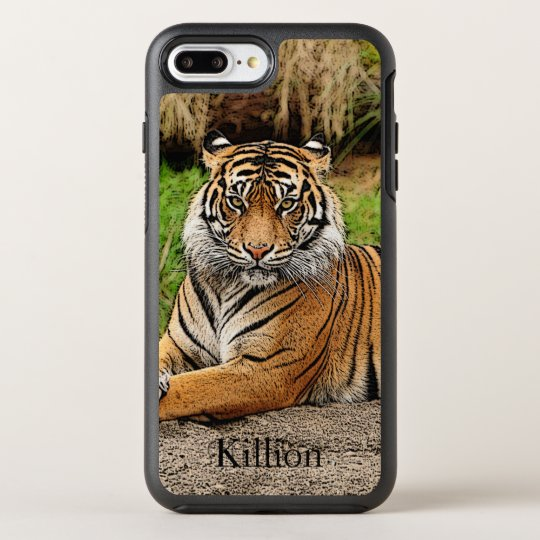 Tiger And Name OtterBox Symmetry iPhone 7 Plus Case