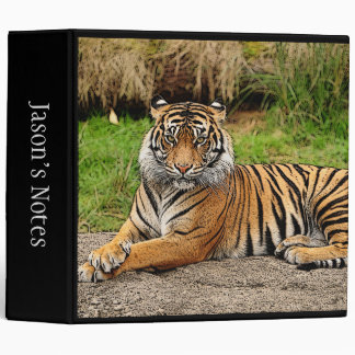 Tiger and Name School 3 Ring Binders
