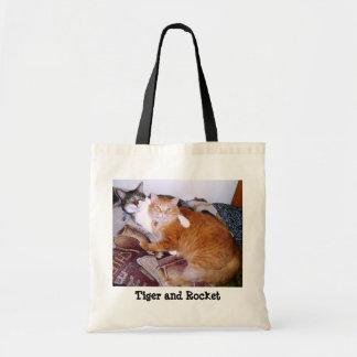TIGER AND ROCKET Tote Bag