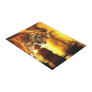 Tiger and Sunset Doormat