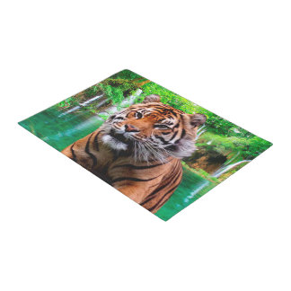 Tiger and Waterfall Doormat