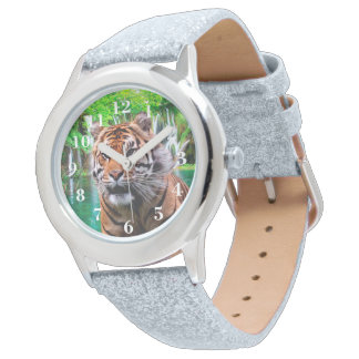 Tiger and Waterfall Wristwatch