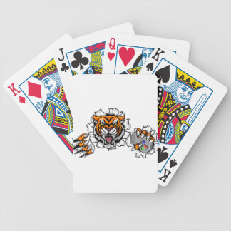 Tiger Angry Esports Mascot Bicycle Playing Cards