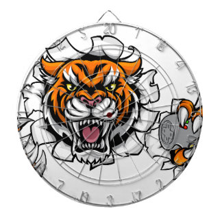 Tiger Angry Esports Mascot Dartboard