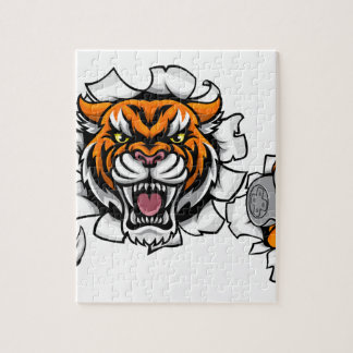 Tiger Angry Esports Mascot Jigsaw Puzzle
