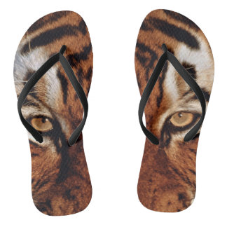Tiger Animal Print Flip Flops