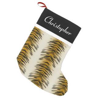 Tiger Animal Print Personalized Christmas Stocking