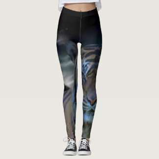 Tiger Animal Print Watercolor Fantasy Leggings
