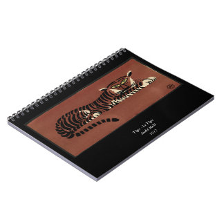 Tiger - Antiquarian Colorful Book Illustration Spiral Notebook