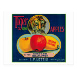 Tiger Apple Crate LabelWatsonville, CA Postcards