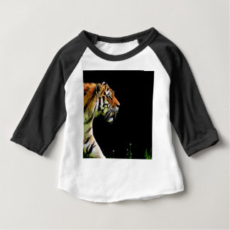 Tiger Approaching - Wild Animal Artwork Baby T-Shirt