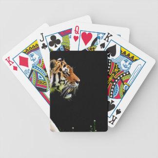 Tiger Approaching - Wild Animal Artwork Bicycle Playing Cards