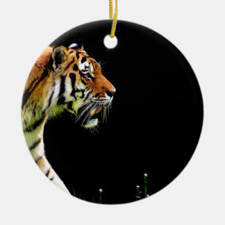 Tiger Approaching - Wild Animal Artwork Ceramic Ornament