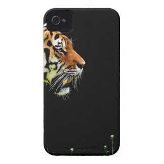 Tiger Approaching - Wild Animal Artwork iPhone 4 Case-Mate Case