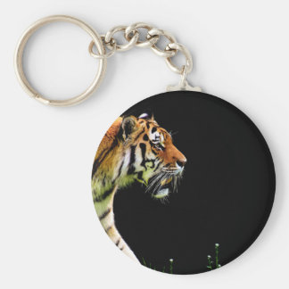 Tiger Approaching - Wild Animal Artwork Keychain