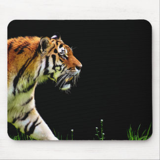 Tiger Approaching - Wild Animal Artwork Mouse Pad