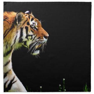 Tiger Approaching - Wild Animal Artwork Napkin