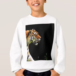 Tiger Approaching - Wild Animal Artwork Sweatshirt