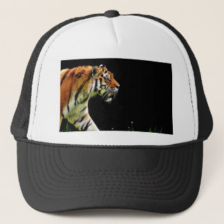 Tiger Approaching - Wild Animal Artwork Trucker Hat