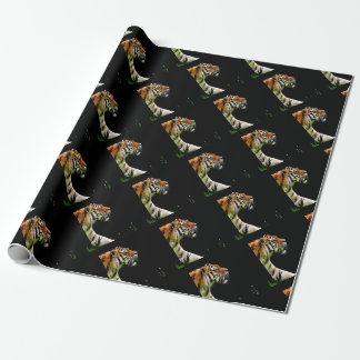 Tiger Approaching - Wild Animal Artwork Wrapping Paper