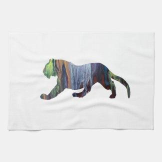 Tiger art kitchen towel