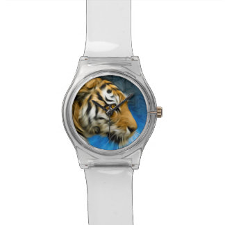 Tiger Art Painting Wrist Watches