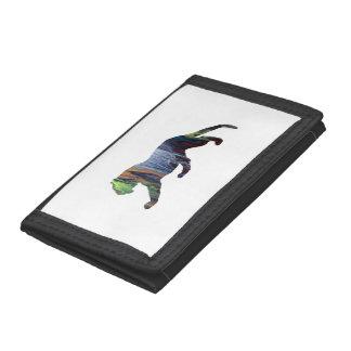 Tiger art tri-fold wallets