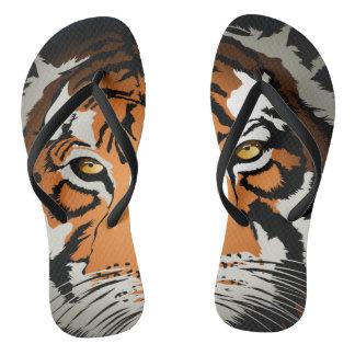 Tiger at night flip flops