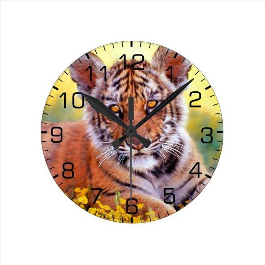 Tiger Baby Cub Wallclock