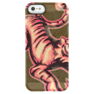 Tiger Baby Painting Cartoon Salmon Brown Permafrost® iPhone SE/5/5s Case