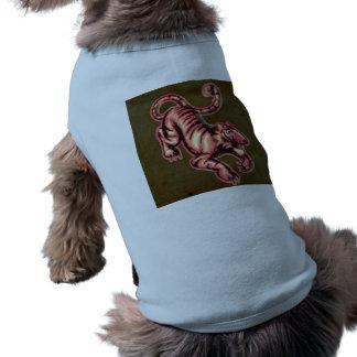 Tiger Baby Painting Cartoon Salmon Brown Pet Tee Shirt