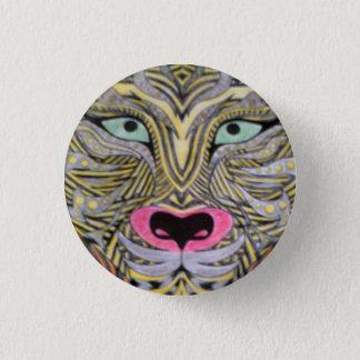 Tiger badge 1 inch round button