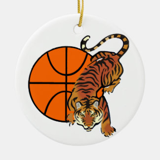 Tiger Basketball T-shirts and Gifts Ceramic Ornament