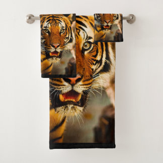 Tiger Bathroom Towel Set