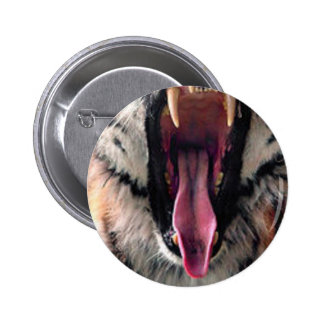 Tiger Bearing Teeth 2 Inch Round Button