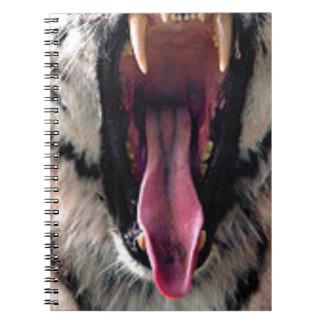 Tiger Bearing Teeth Spiral Notebook