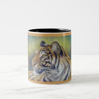 Tiger Black 11 oz Two-Tone Mug