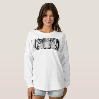 Tiger Black and White Blue eyes Spirit Jersey