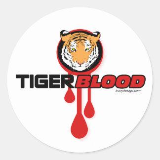 Tiger Blood Classic Round Sticker