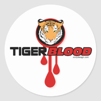 Tiger Blood Round Sticker