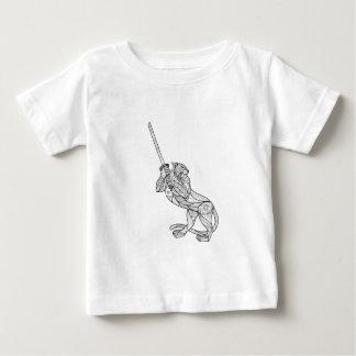 Tiger Brandishing Katana Mandala Baby T-Shirt