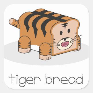 Tiger Bread Square Sticker