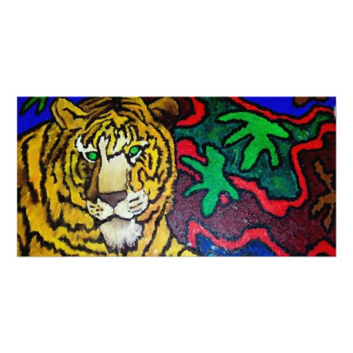 Tiger Bright by Piliero Personalized Photo Card