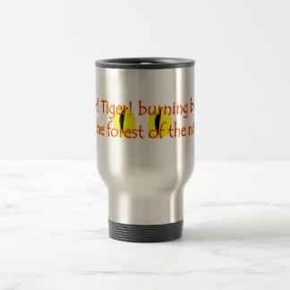 Tiger burning bright travel mug