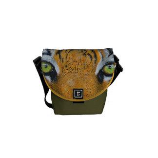Tiger Cat Animal Stripes Pattern Destiny's Destiny Courier Bag