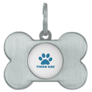 TIGER CAT CAT DESIGNS PET NAME TAG