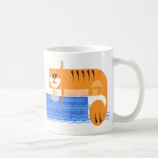 Tiger catching a fish mug