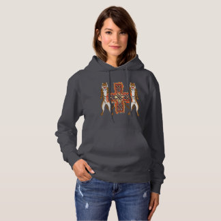 Tiger Celt Cross Ladies Hoodie