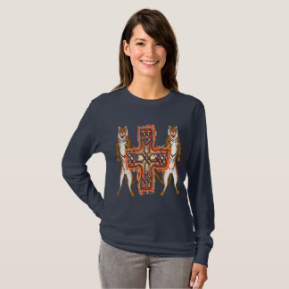 Tiger Celt Cross Ladies Long Sleeve Shirt